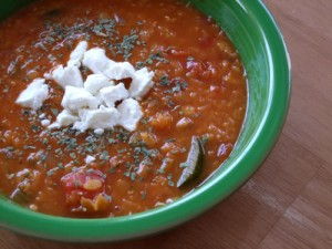 Red Lentil & Vegetable Soup *