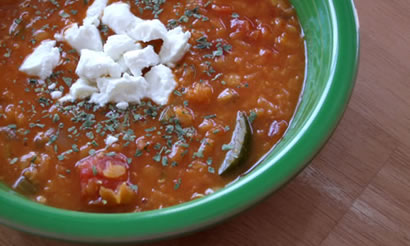 Red Lentil & Vegetable Soup