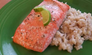 Baked Salmon & Key Lime Butter *