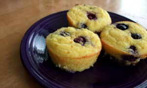 Lemon-Blueberry Coconut Flour Muffins *