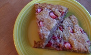 Whole Grain Strawberry-Oat Scones