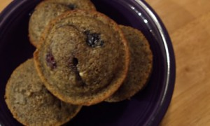 Blueberry-Buckwheat Mini Muffins