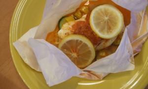 Cod en Papillote with Paprika-Parmesan Butter *