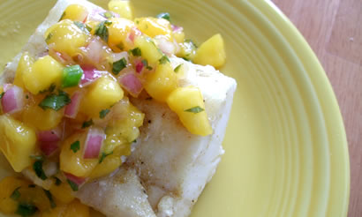 Grilled Halibut with Mango Salsa — Cooking God's Way