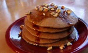 Holiday Blender Pancakes (Gingerbread or Pumpkin)