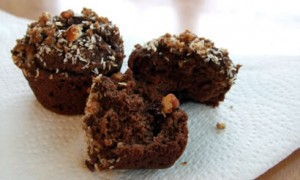 Coconut Flour German Chocolate Muffins