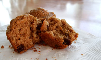 -grain oatmeal raisin muffins are reminiscent of an oatmeal cookie ...