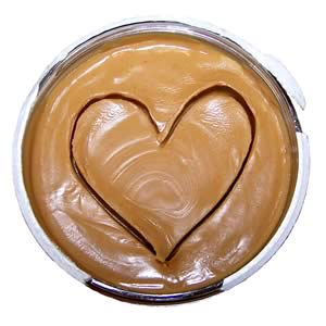 heart in peanut butter