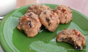 Fruitcake Bites - Dried Fruit Cookies