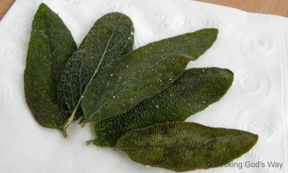 how to use fried sage leaves