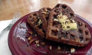 """Whole-Grain"" Chocolate Waffles"