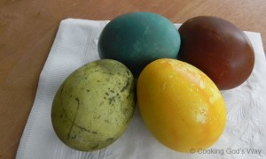 Naturally Dyed Easter Eggs: An Experiment