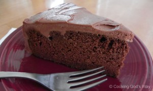 "Grain-free Chocolate ""Bean"" Cake"