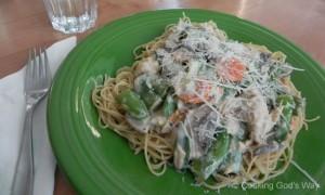 Creamy Salmon & Veggie Pasta Dinner