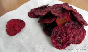 Garlic & Herb Beet Chips