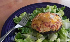 Salmon-Stuffed Portobello Mushrooms