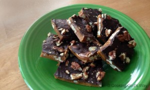 Salted Chocolate-Toffee Pecan Brittle