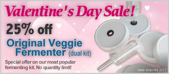 25 Percent of Original Veggie Fermenter (dual kit)